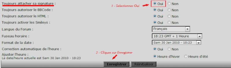Tutoriel pour mettre un avatar et une signature Screen20