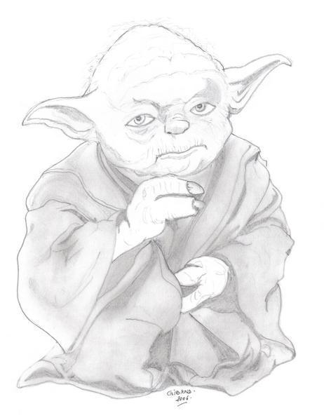 Comment Dessiner Yoda Pour Le Colorier Secretstoeating