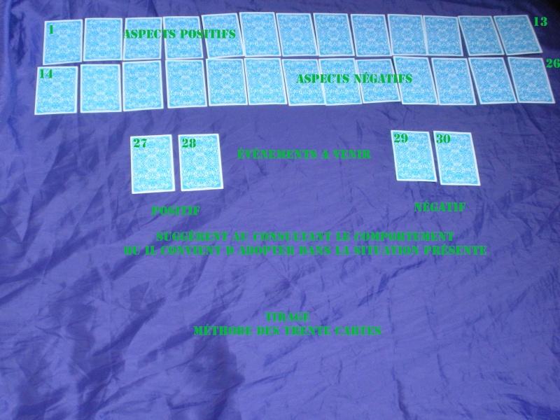 Tirage selon la méthode des Trente cartes Tirage19