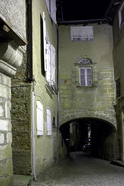 Rues de Figeac de nuit Img_3411