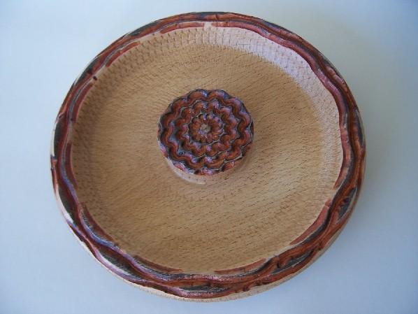 Torneado de madera. bandeja. Lathed hölzern: tablett. Tourna Redpie15