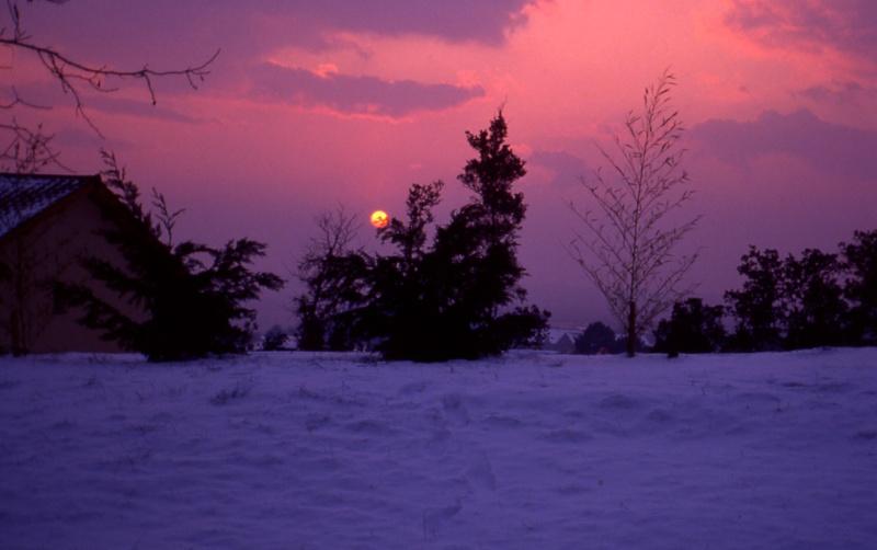 Lever de soleil hivernal Hourti10