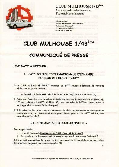 64e Bourse Internationale de MULHOUSE Mulhou10