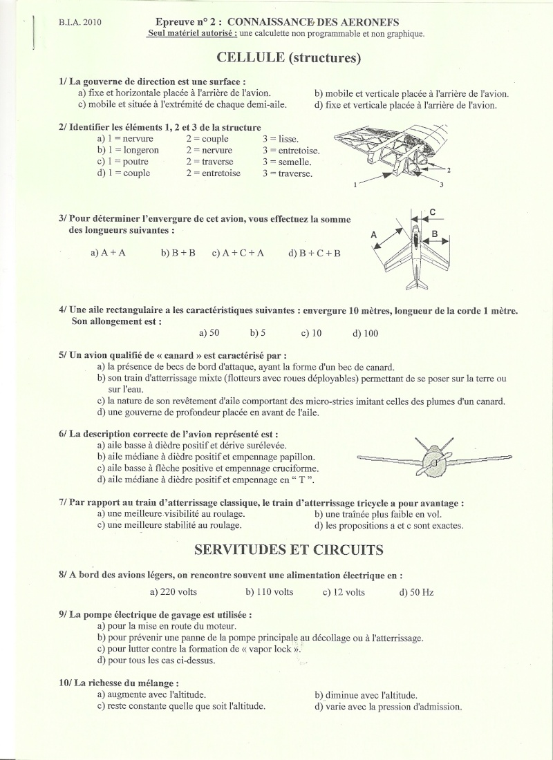 BIA 2010 : corrigé en ligne Numari12