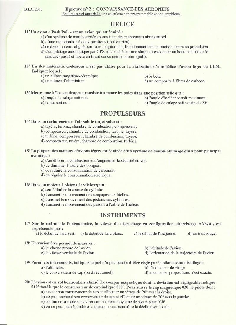 BIA 2010 : corrigé en ligne Numari13