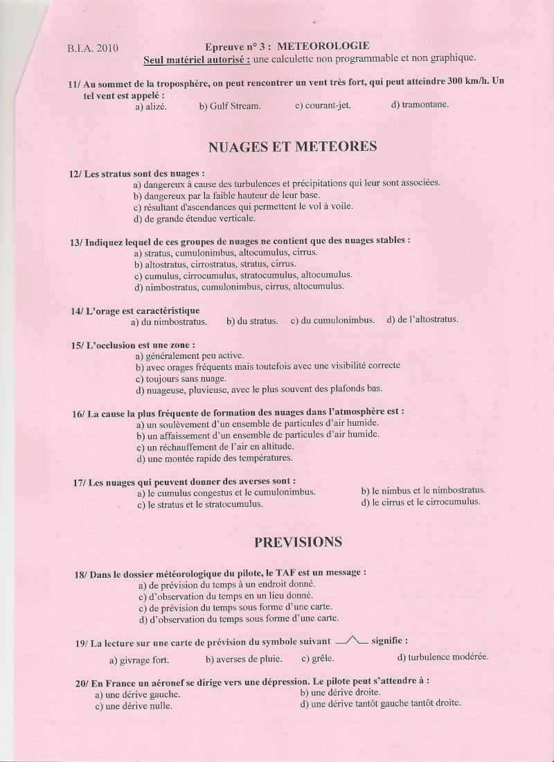 BIA 2010 : corrigé en ligne Numari15