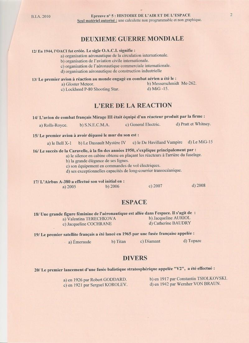BIA 2010 : corrigé en ligne Numari19