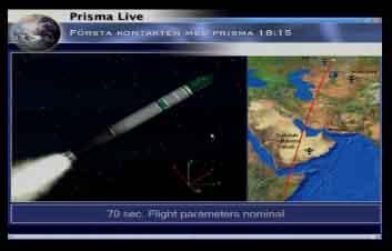 Lancement Picard et Prisma par Dnepr le 15 juin 2010 Prisma10