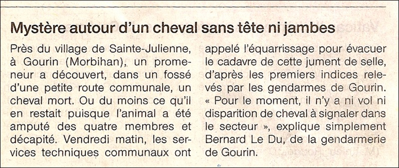 Ouest France 27/02/2010 Cheval10