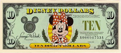$$$ Disney Dollar $$$ 10fron10