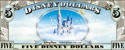 $$$ Disney Dollar $$$ P1-00010
