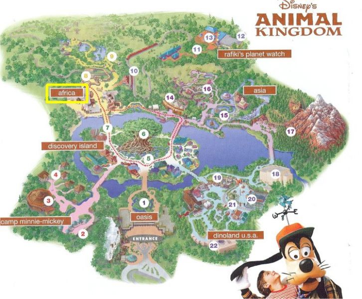 Disney's Animal Kingdom à Walt Disney World Resort Planan11