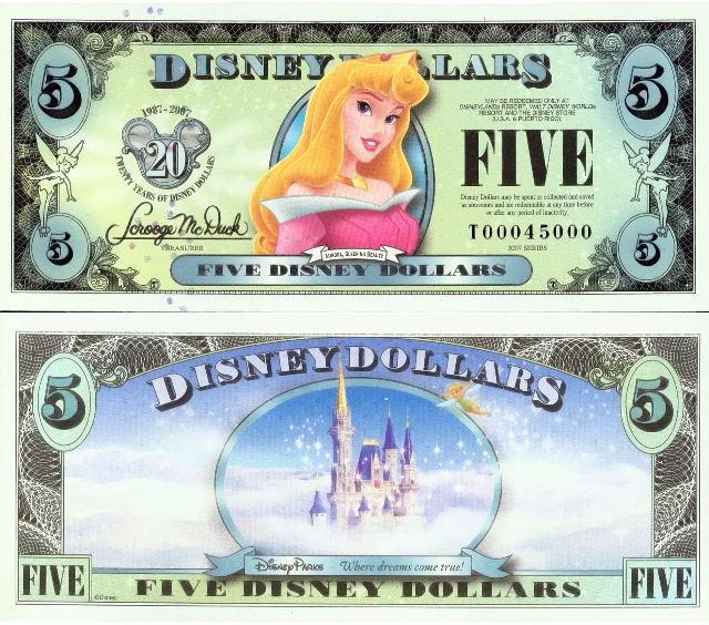 $$$ Disney Dollar $$$ Thdd0510