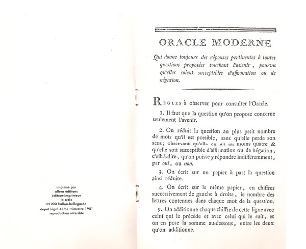 l'oracle moderne 213