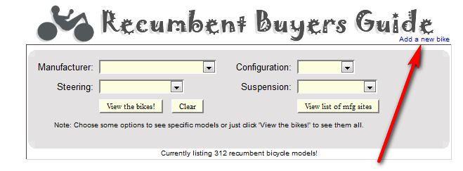 Base de données de tous les modèles de vélos couchés Captur10