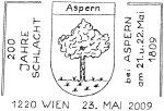 """Sonderpostamt """"200 Jahre Schlacht von Aspern 1809 - 2009"""" 92_23_10"""