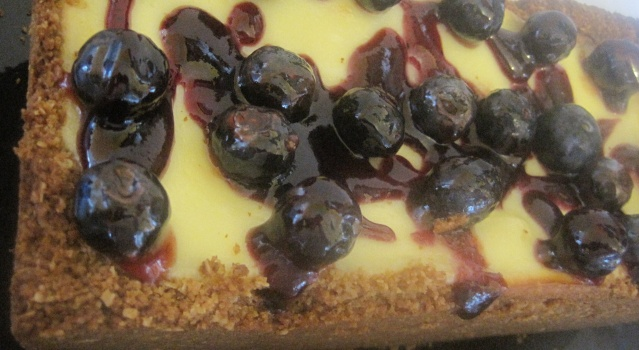 Gâteau au fromage et bleuets à bas de Chabakiya ou Mkhar9a  139