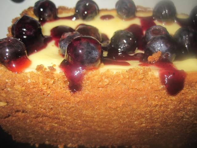 Gâteau au fromage et bleuets à bas de Chabakiya ou Mkhar9a  236