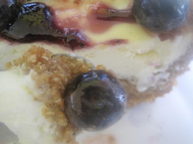 Gâteau au fromage et bleuets à bas de Chabakiya ou Mkhar9a  332