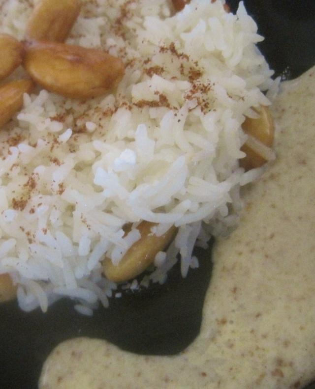 Creamy Amlou Sauce to serve with Seffa / Sauce crèmeuse à base d'Amlou et compote de pommes pour accompagner Seffa Sucrée au riz! 344