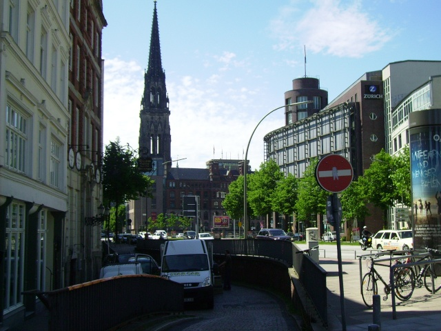 Hamburg Nikolai Turm.  Hamburg 2010. Pict8414