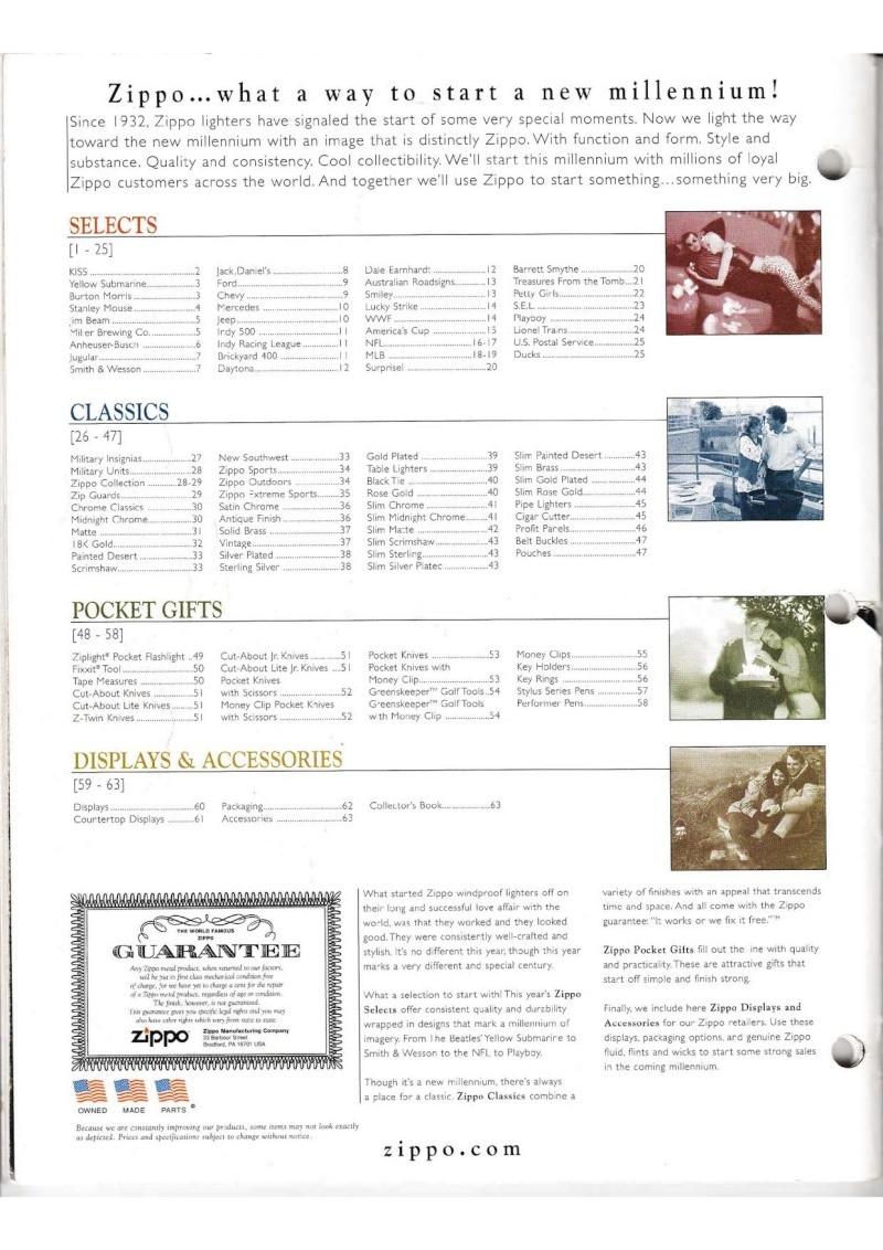 Catalogue ZIPPO Collection 2000 (version américaine) 014