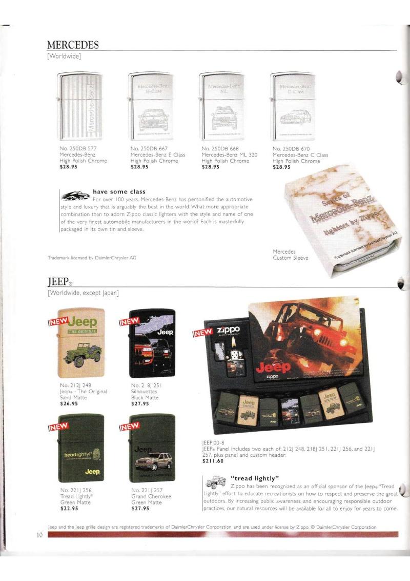 Catalogue ZIPPO Collection 2000 (version américaine) 1019