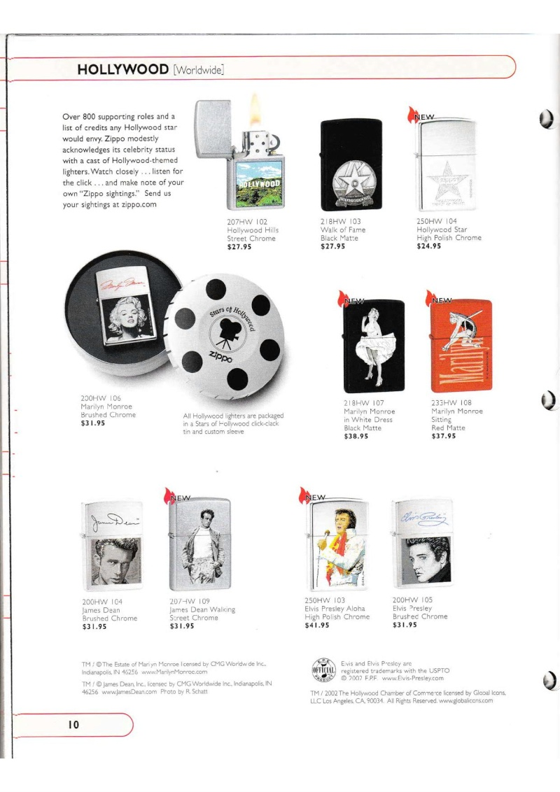 Catalogue ZIPPO Collection 2002 (version américaine) 1020