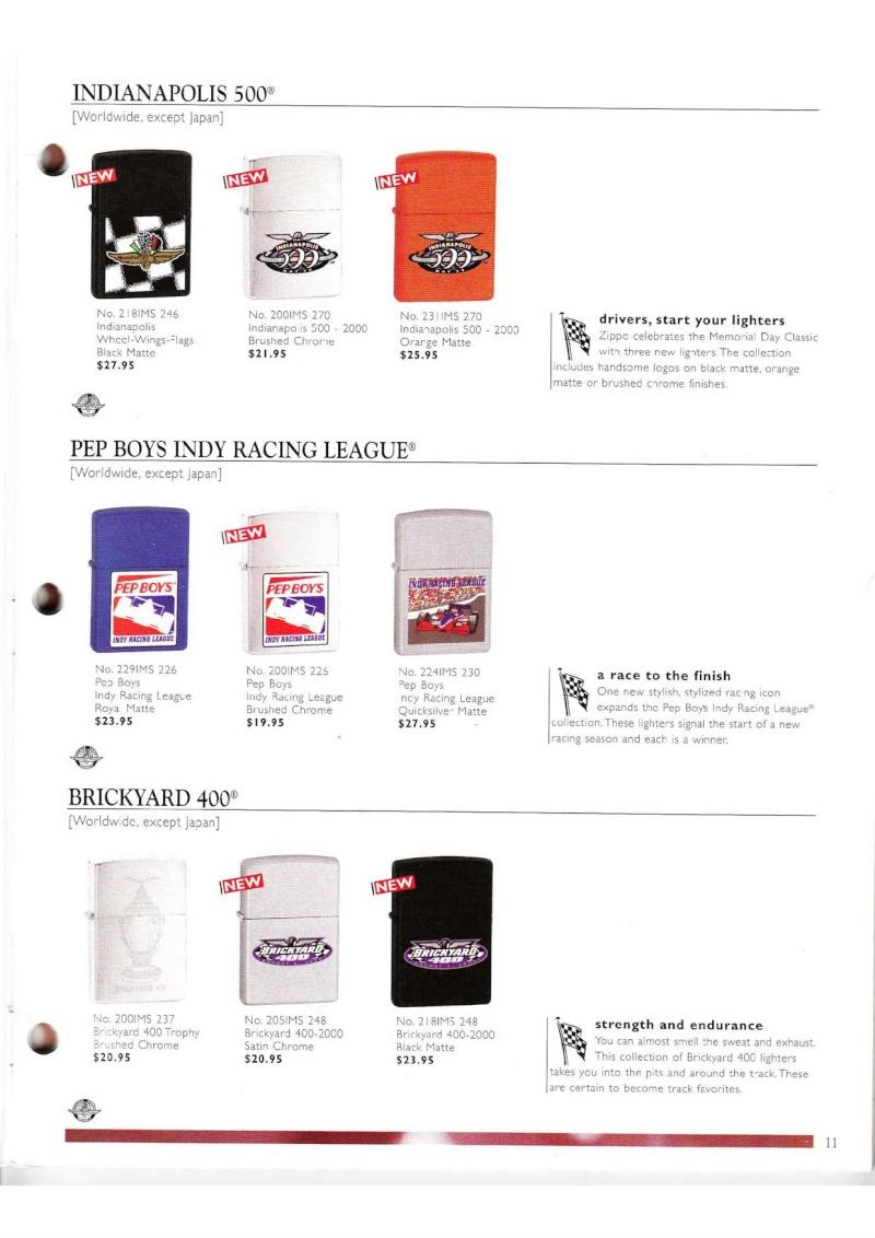 Catalogue ZIPPO Collection 2000 (version américaine) 1118