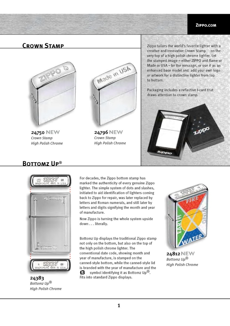 Catalogue ZIPPO 2010 Complete line (version américaine) 113