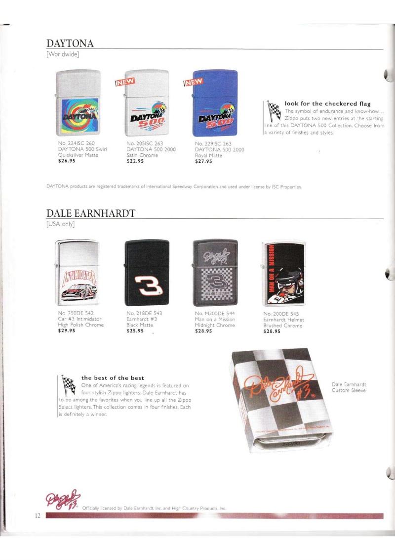 Catalogue ZIPPO Collection 2000 (version américaine) 1218