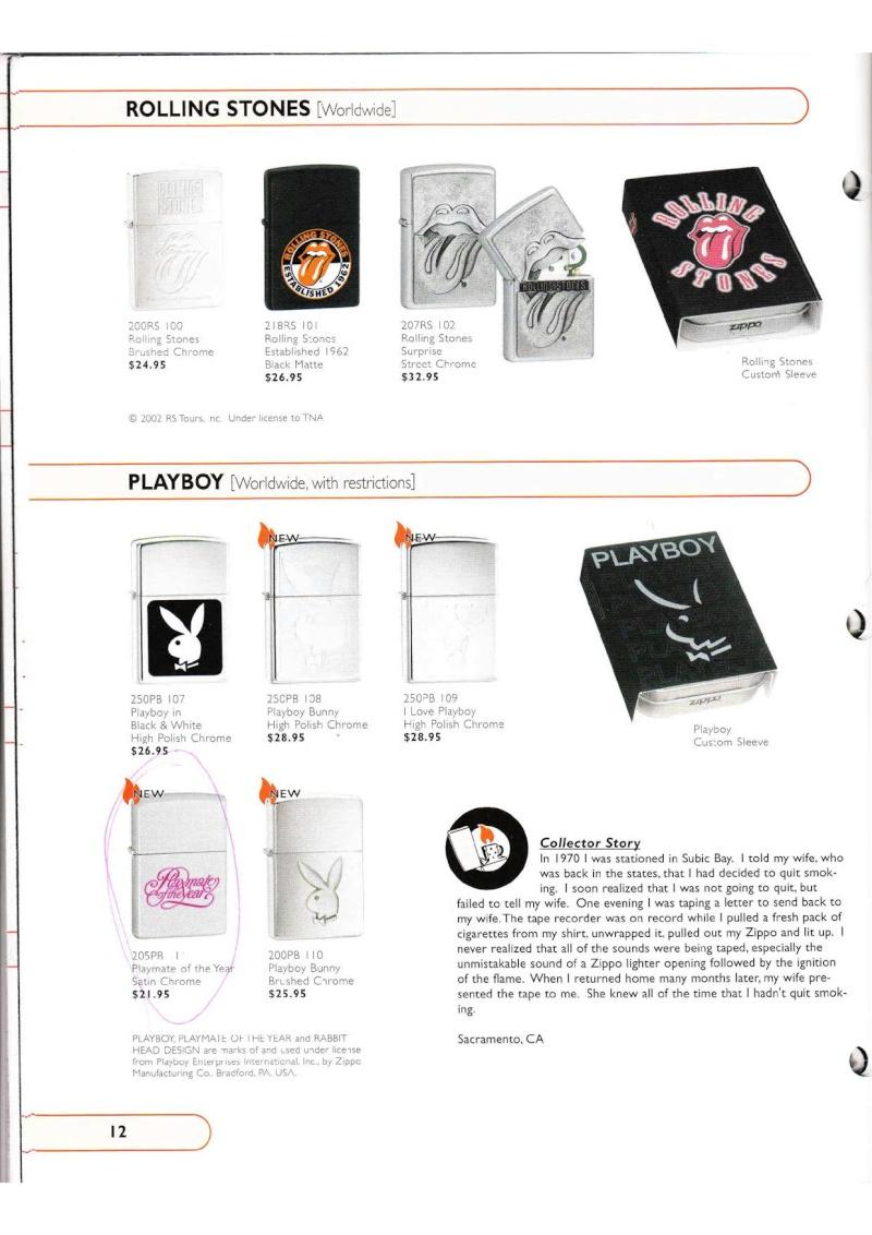Catalogue ZIPPO Collection 2002 (version américaine) 1219