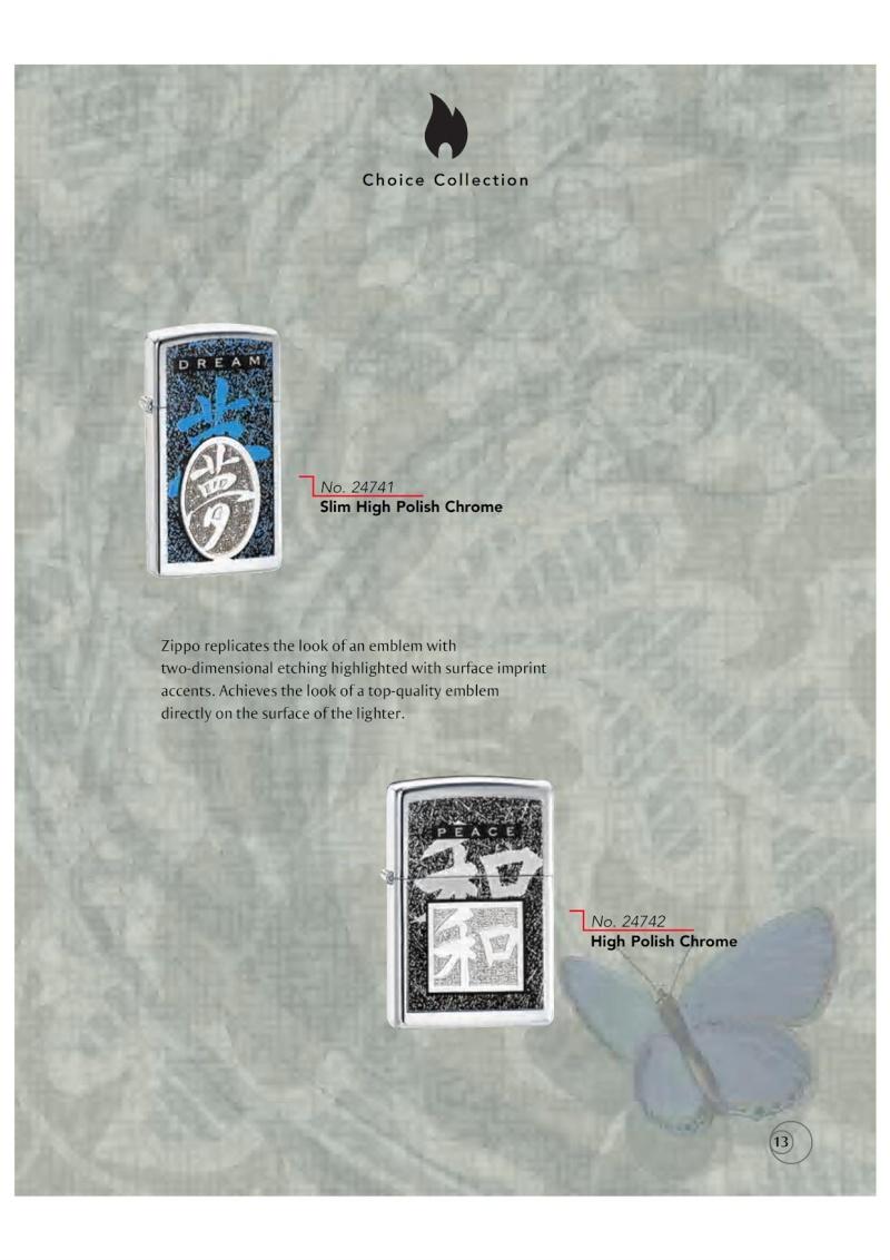 Catalogue ZIPPO 2009/10 Choice (version américaine) 1316