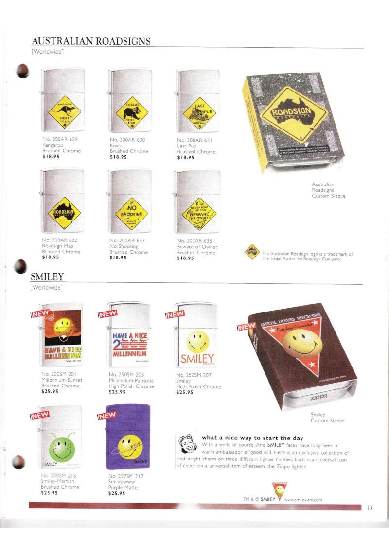 Catalogue ZIPPO Collection 2000 (version américaine) 1318