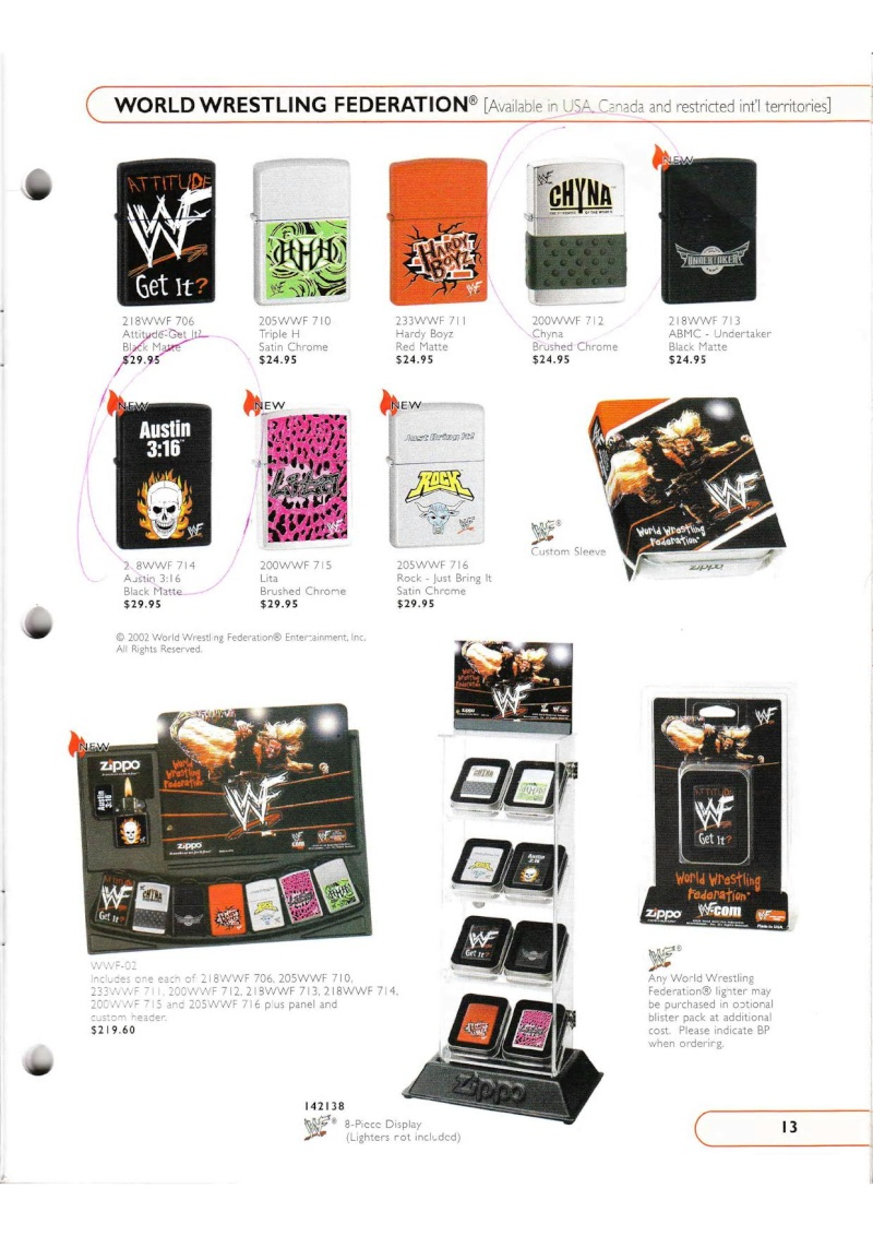 Catalogue ZIPPO Collection 2002 (version américaine) 1319