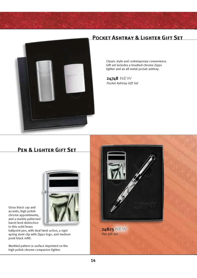 Catalogue ZIPPO 2010 Complete line (version américaine) 1417