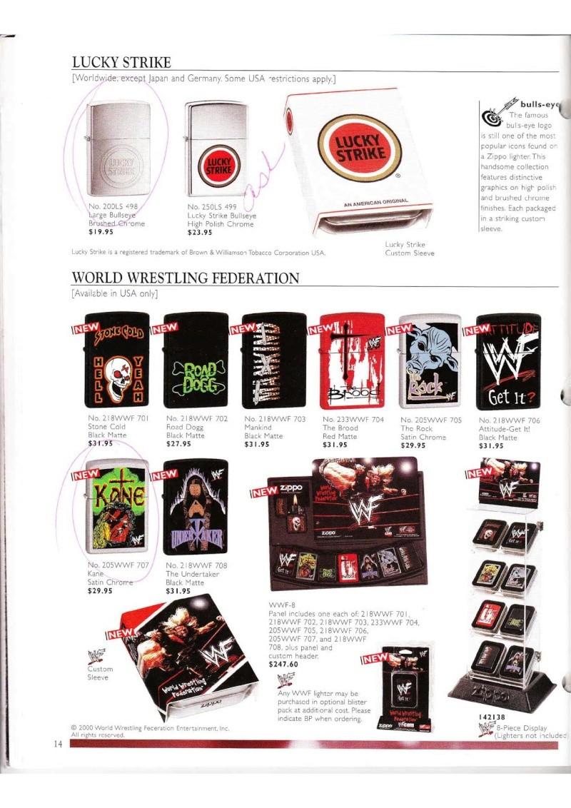 Catalogue ZIPPO Collection 2000 (version américaine) 1418