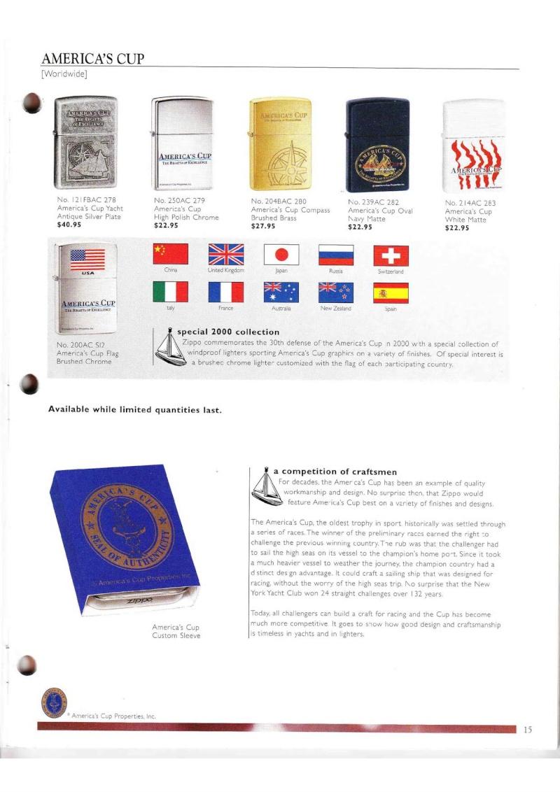 Catalogue ZIPPO Collection 2000 (version américaine) 1519