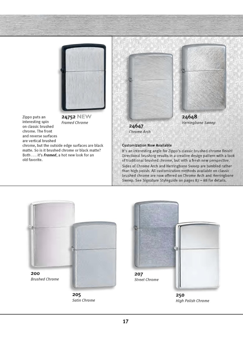 Catalogue ZIPPO 2010 Complete line (version américaine) 1717