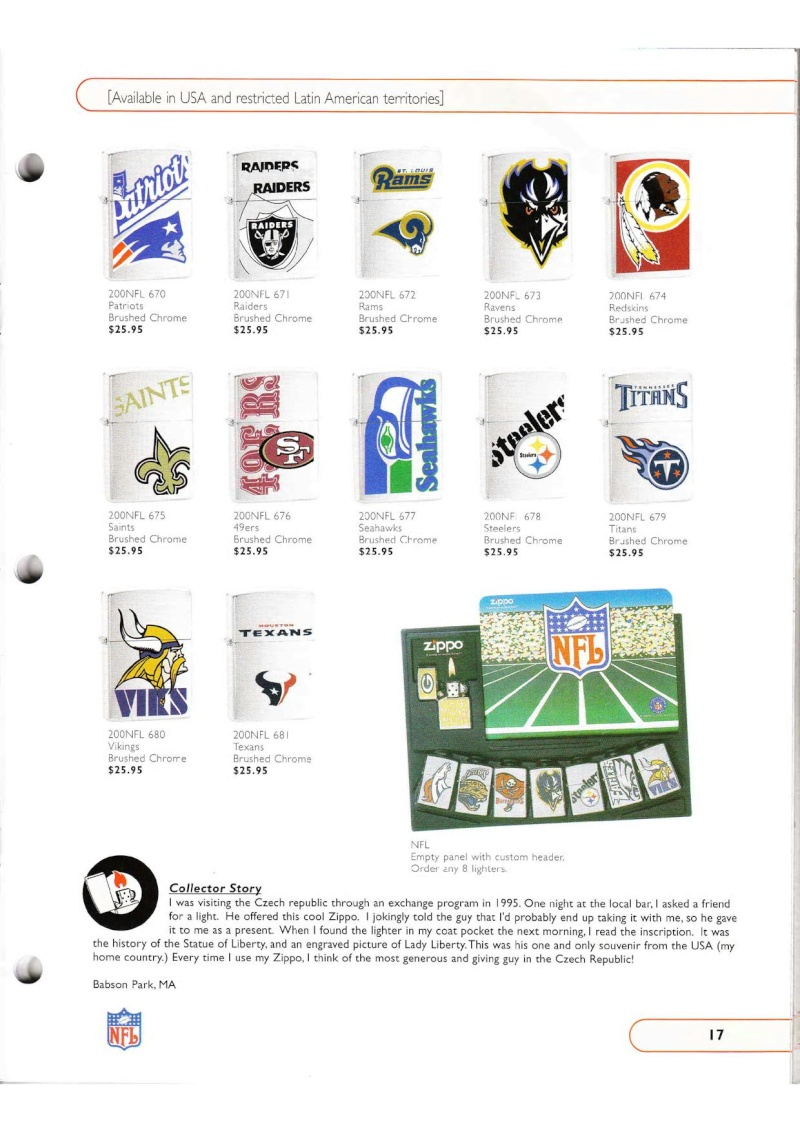 Catalogue ZIPPO Collection 2002 (version américaine) 1719