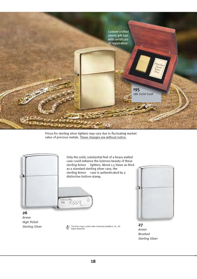 Catalogue ZIPPO 2010 Complete line (version américaine) 1815