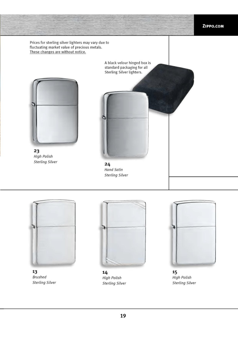 Catalogue ZIPPO 2010 Complete line (version américaine) 1915
