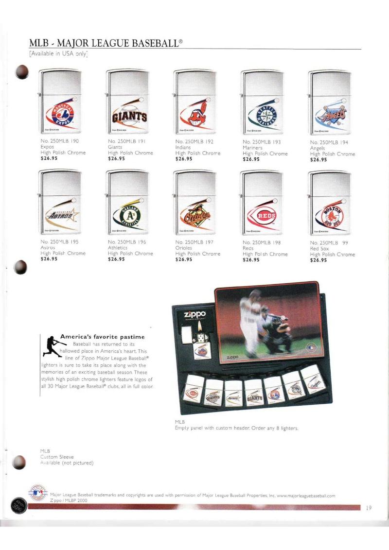 Catalogue ZIPPO Collection 2000 (version américaine) 1916