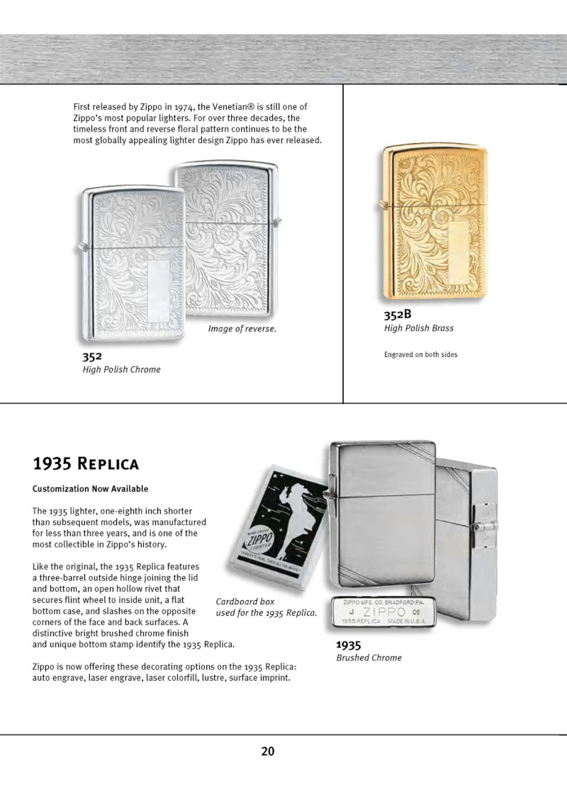 Catalogue ZIPPO 2010 Complete line (version américaine) 2015