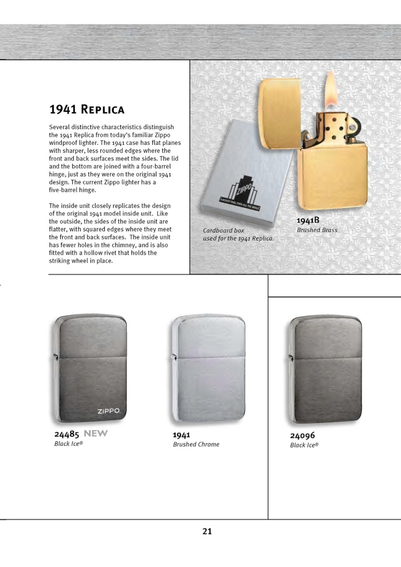 Catalogue ZIPPO 2010 Complete line (version américaine) 2114