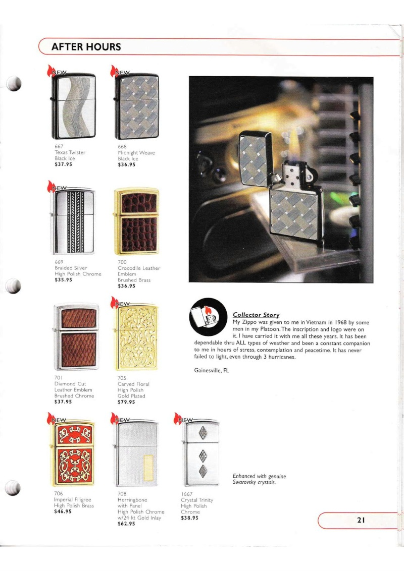 Catalogue ZIPPO Collection 2002 (version américaine) 2116