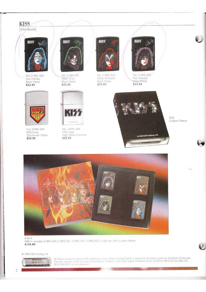Catalogue ZIPPO Collection 2000 (version américaine) 214
