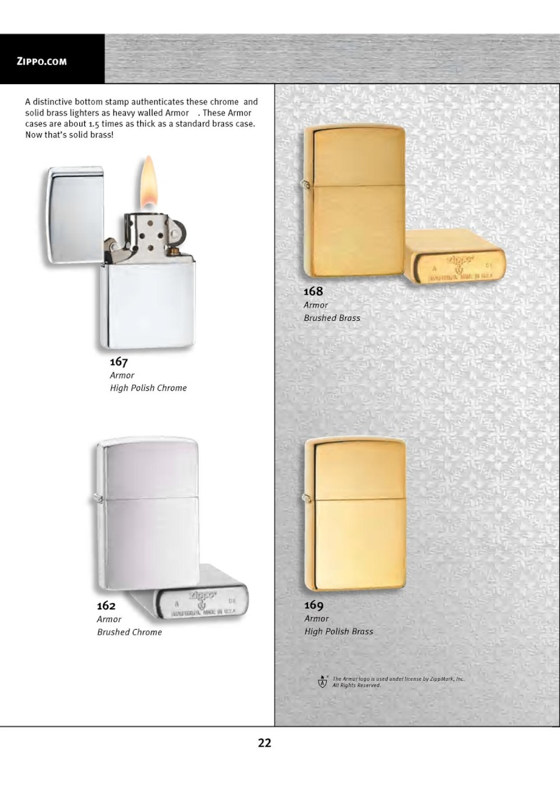 Catalogue ZIPPO 2010 Complete line (version américaine) 2214