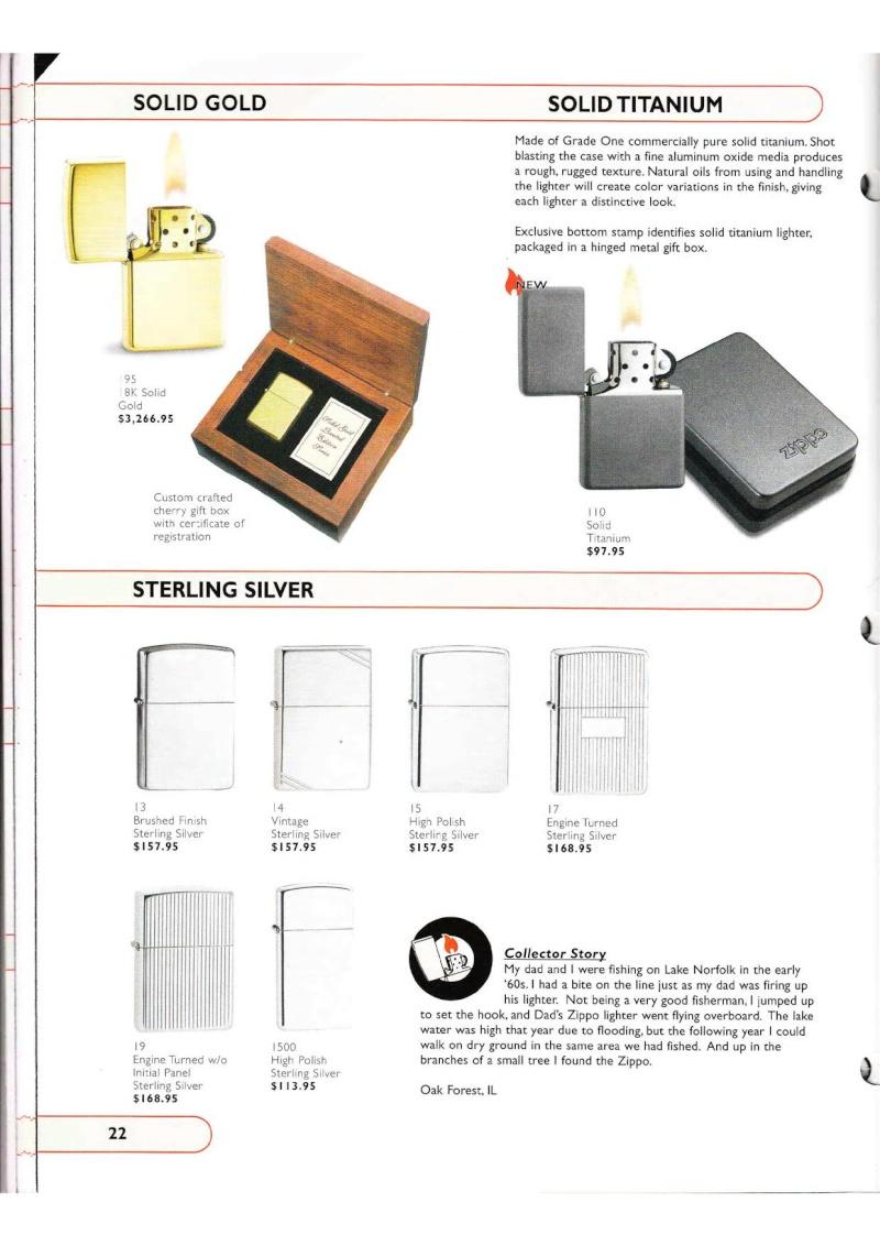 Catalogue ZIPPO Collection 2002 (version américaine) 2216