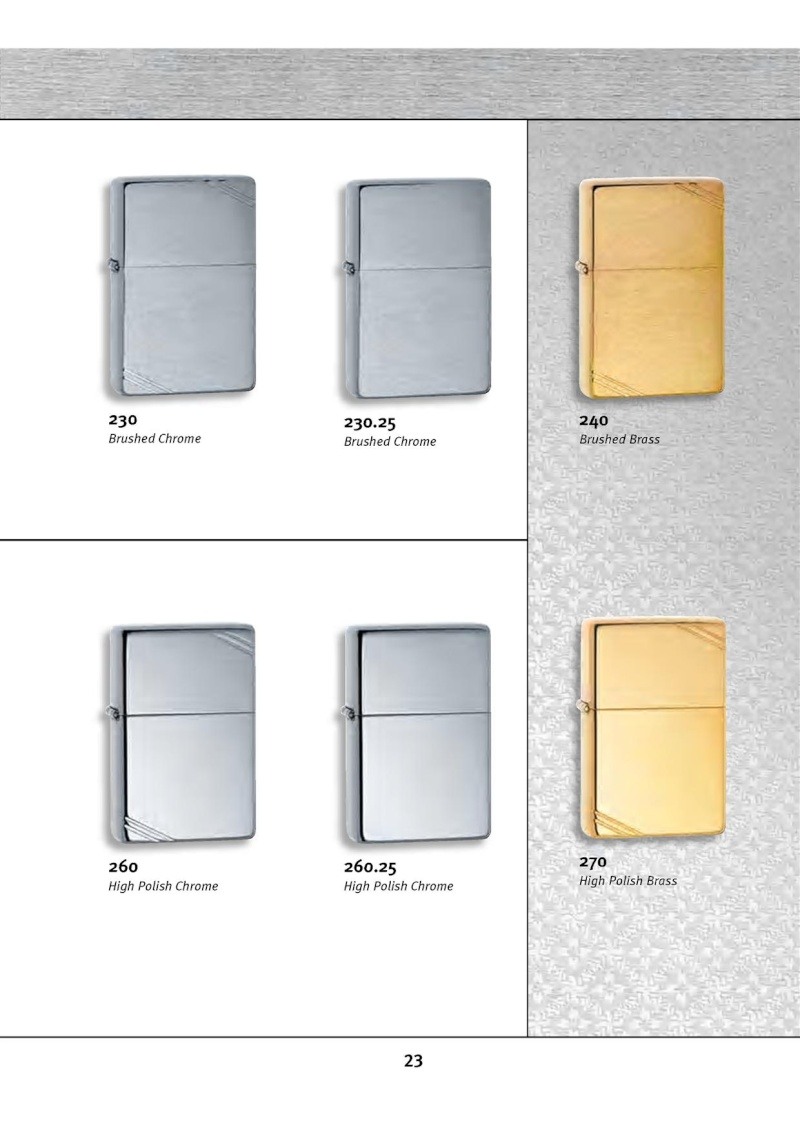 Catalogue ZIPPO 2010 Complete line (version américaine) 2313